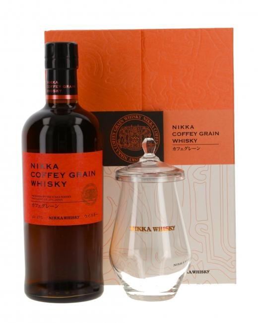 Nikka Coffey Grain mit Glas