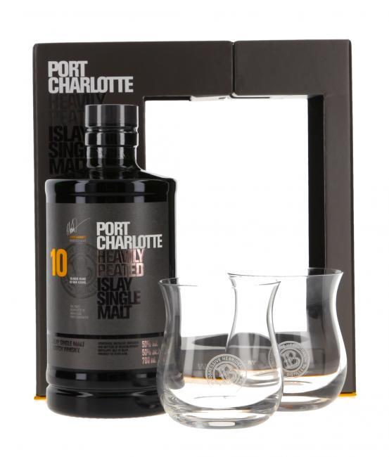 Port Charlotte mit 2 Gläsern