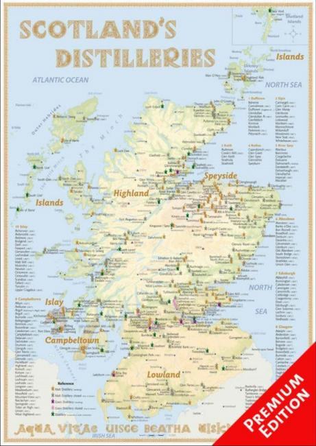 Poster Scotland's Distilleries (Premium)