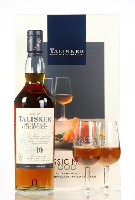 Talisker Classic Malts & Food mit 2 Stielgläsern