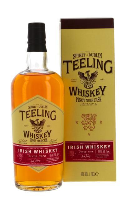 Teeling Pinot Noir inkl. gratis Untersetzer mit irischen Whiskey-Marken