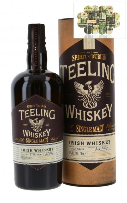 Teeling Single Malt inkl. gratis Untersetzer mit irischen Whiskey-Marken