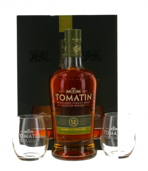 Tomatin mit 2 Gläsern