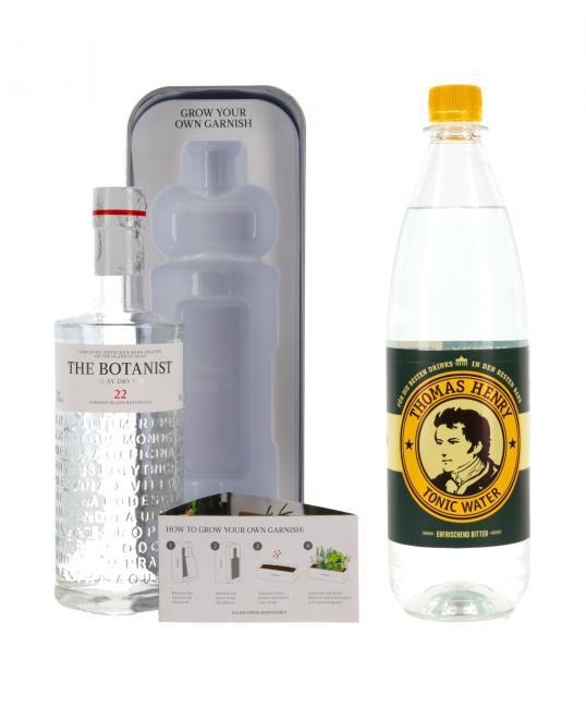 The Botanist 22 Islay Dry Gin mit Pflanzkasten und Tonic Water