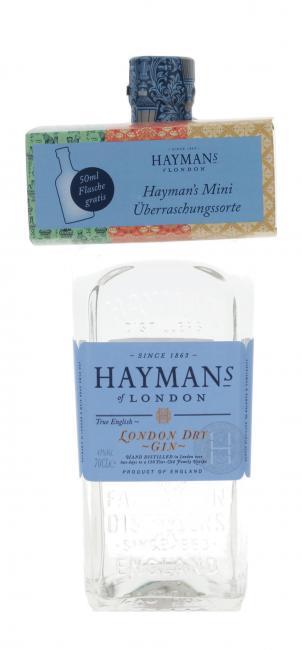 Hayman's London Dry Gin mit Miniatur
