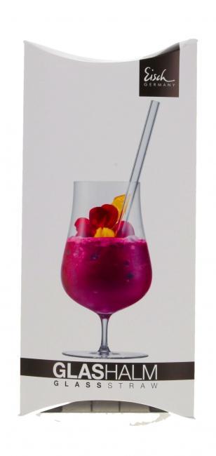 Glashalm Kristall (4 Stück), mit Bürste