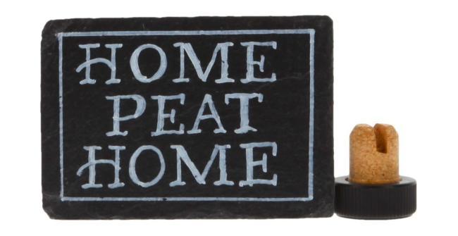 Schiefertafel - 'Home Peat Home'