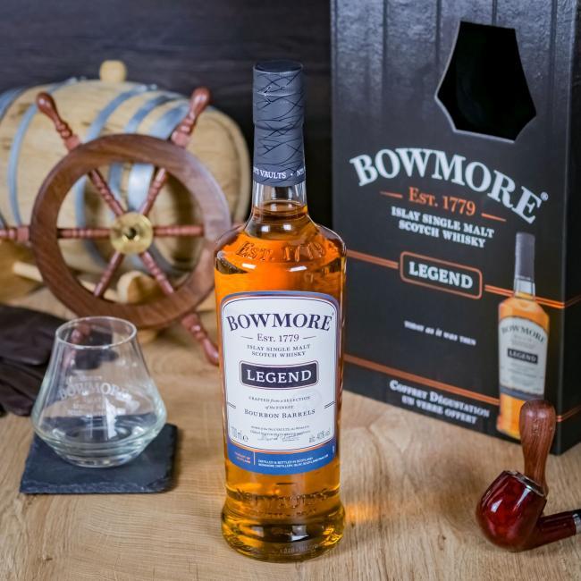 Bowmore Legend mit Glas