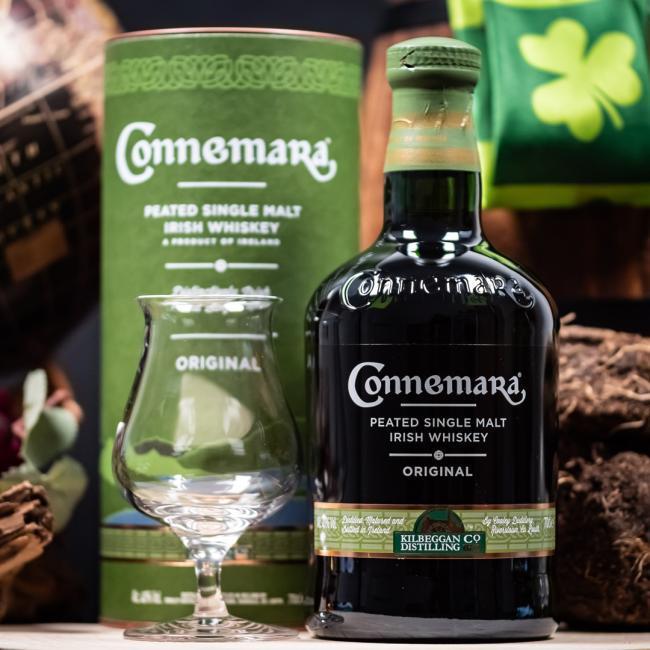 Connemara Original inkl. gratis Untersetzer mit irischen Whiskey-Marken