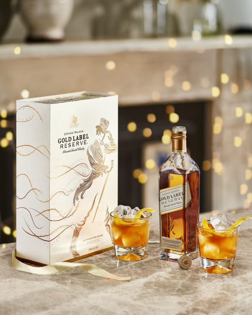 Johnnie Walker Gold Label Reserve mit 2 Gläsern