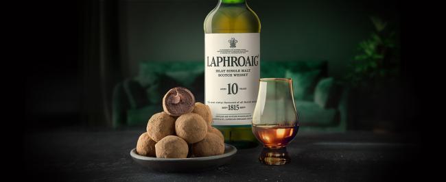 Laphroaig mit gratis Chocolate Truffles