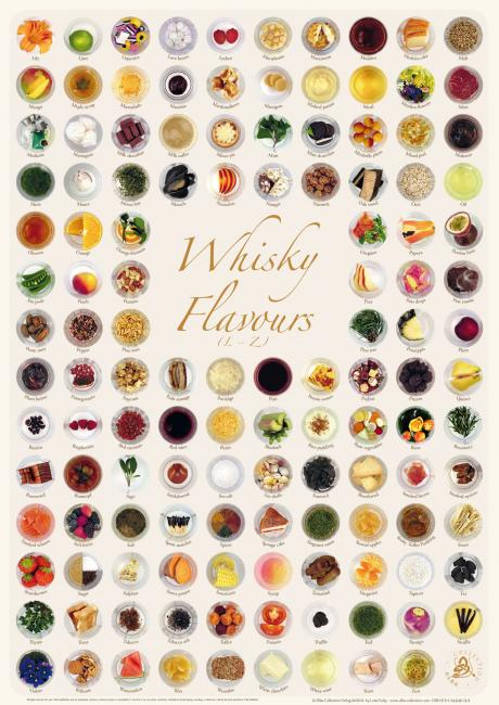 Poster Whisky Flavours Collection (Premium)