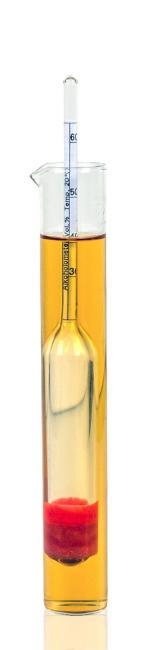 Alkoholmeter für 25-60% vol mit Standzylinder