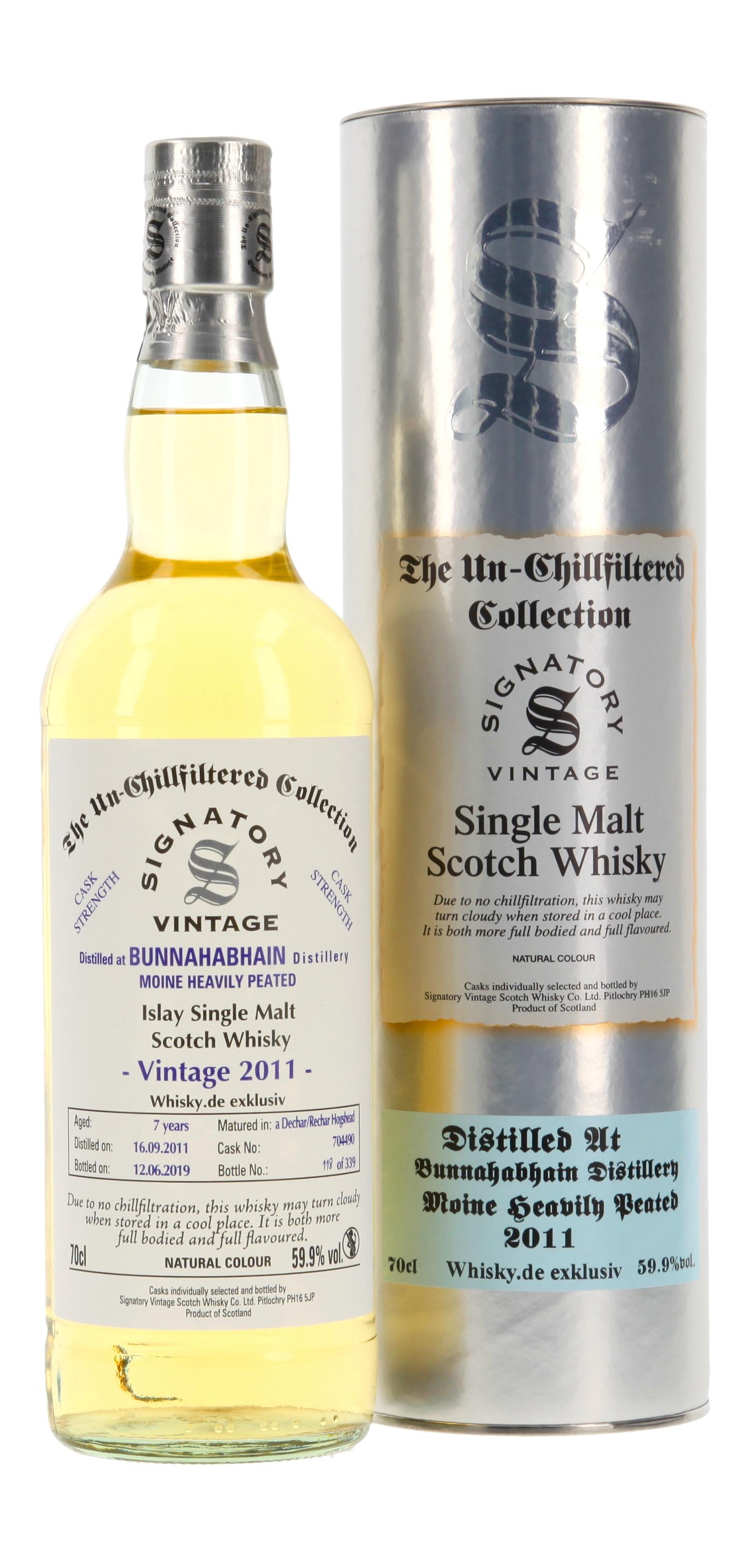 Bunnahabhain-Moine Cask Strength 'Whisky.de exklusiv'