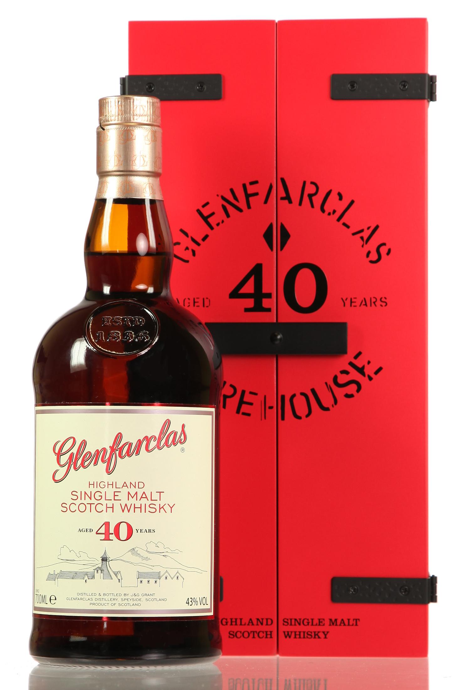 Glenfarclas rote Holzkiste