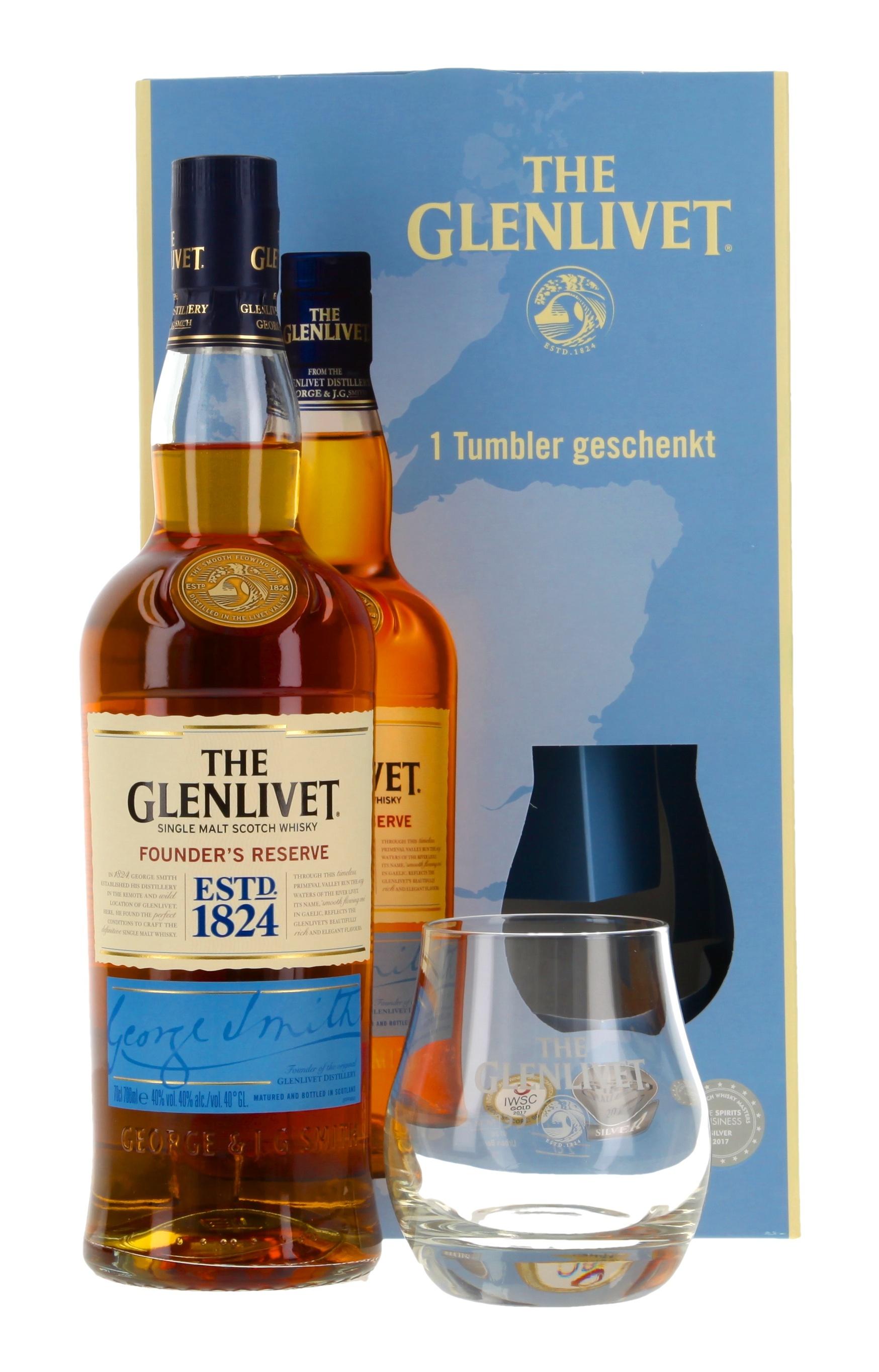 Glenlivet Founder's Reserve mit 1 Tumbler