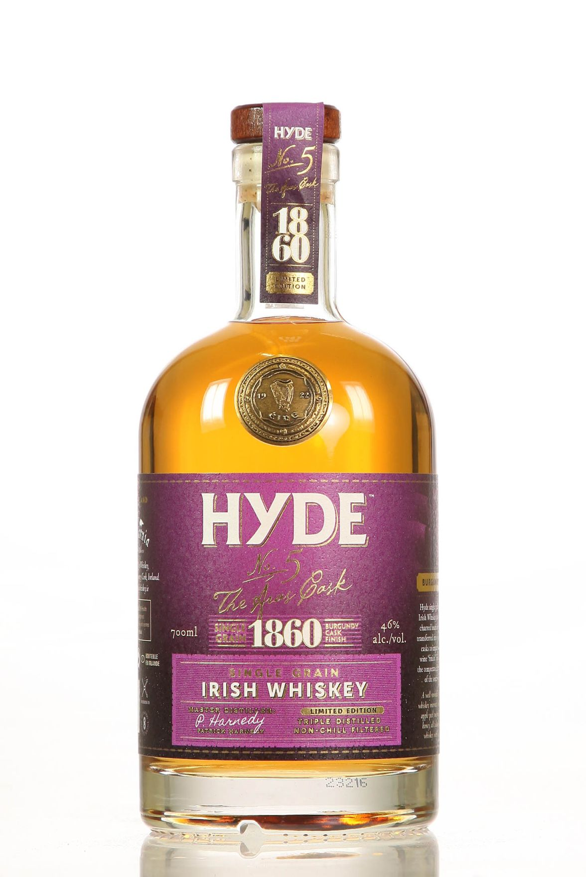 Hyde No. 5 Grain Burgundy Finish