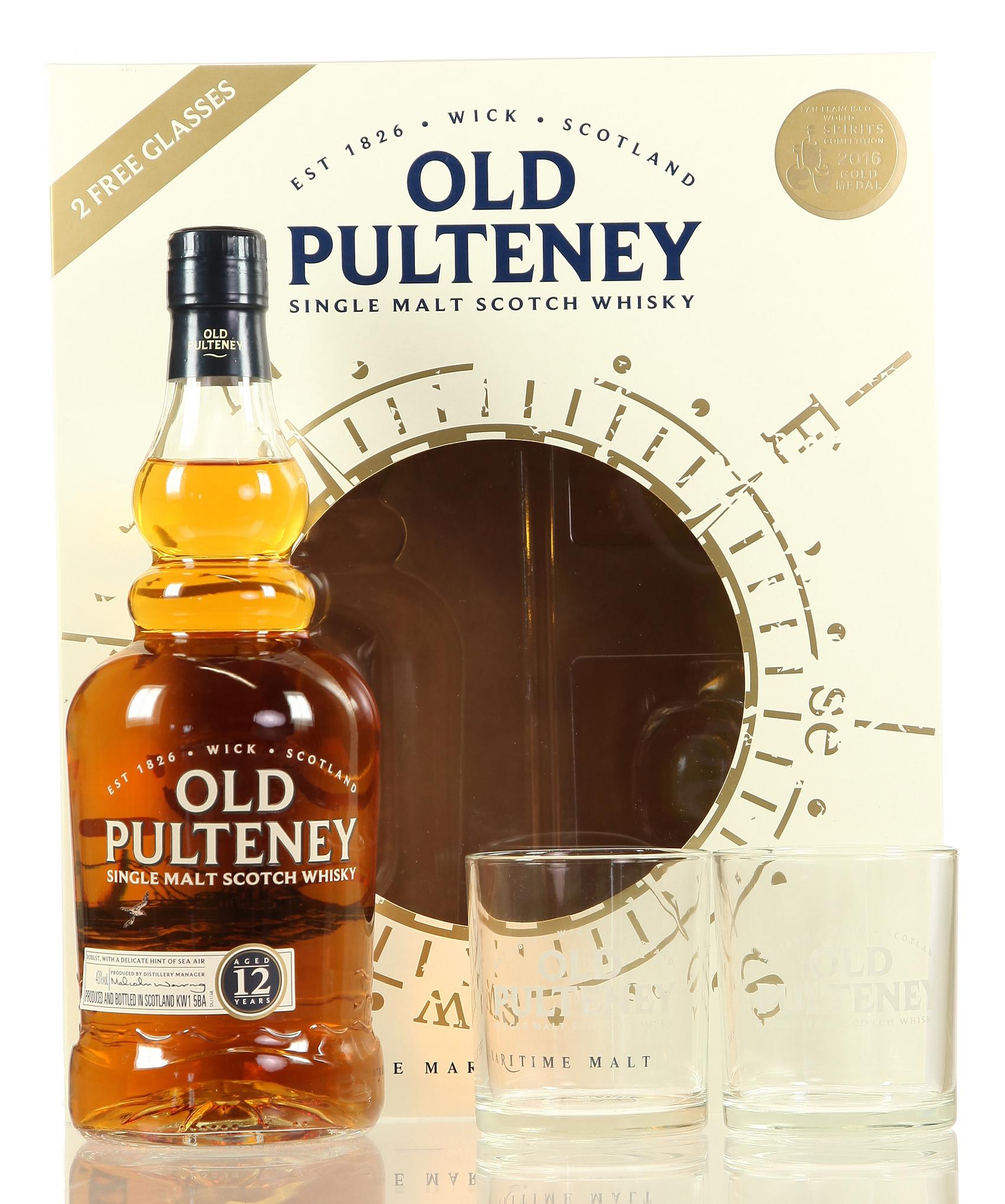 Old Pulteney mit 2 Gläsern