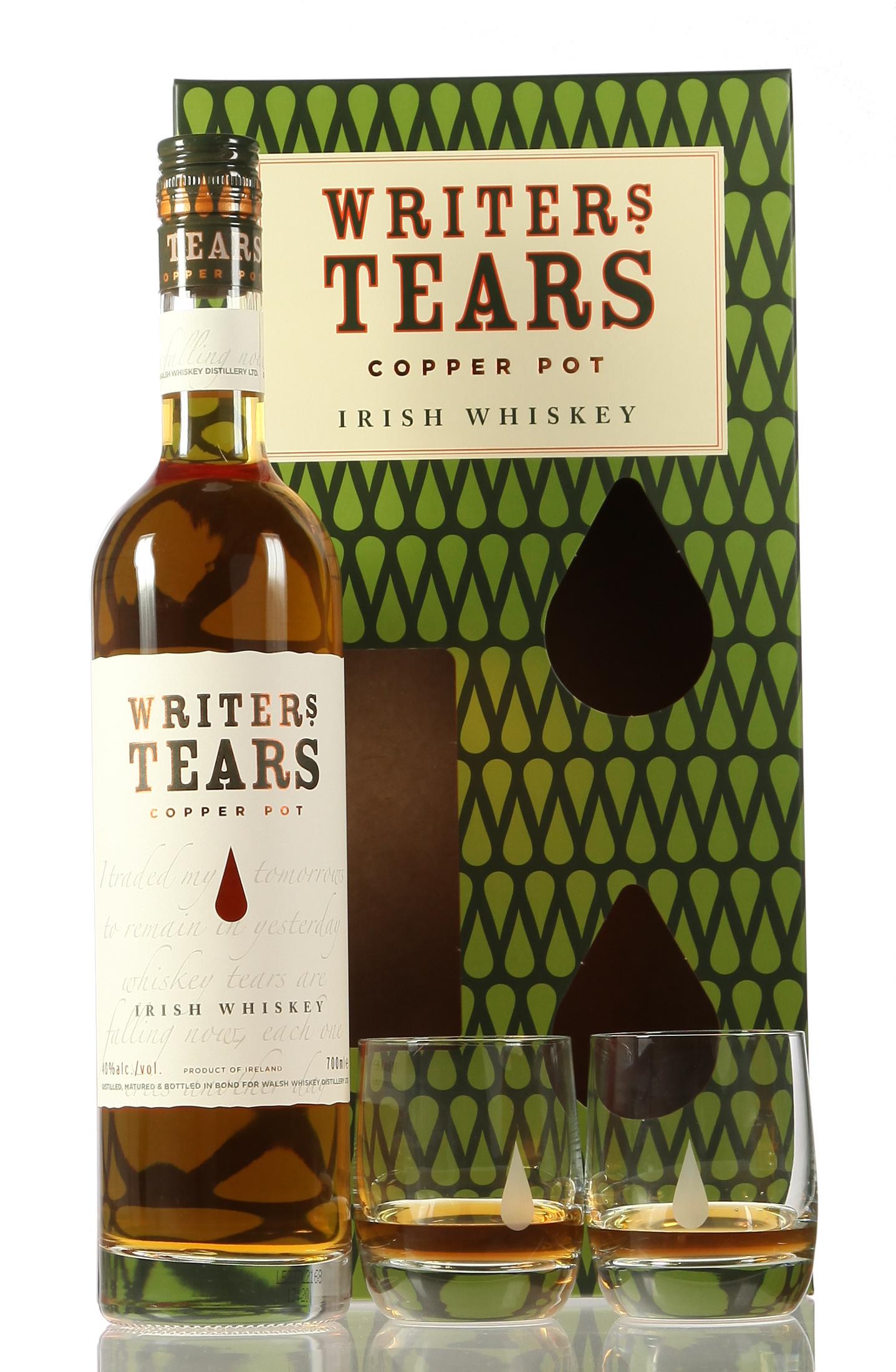 Writers Tears Copper Pot mit 2 Gläsern